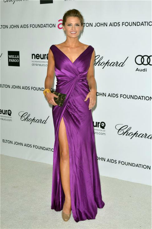 "<div class=""meta image-caption""><div class=""origin-logo origin-image ""><span></span></div><span class=""caption-text"">Stana Katic of 'Castle' attends the 20th annual Elton John AIDS Foundation Oscars Viewing Party in West Hollywood, California on Feb. 26, 2012. (Tony DiMaio / Startraksphoto.com)</span></div>"