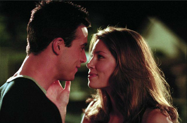 Jessica Biel and Freddie Prinze Jr. appear in a still from the 2001 film, 'Summer Catch.'