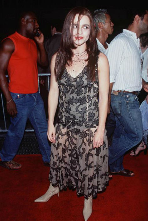 Helena Bonham Carter arrives for the world premiere of &#39;Planet Of The Apes&#39; in New York on July 23, 2001. <span class=meta>(Startraksphoto.com)</span>