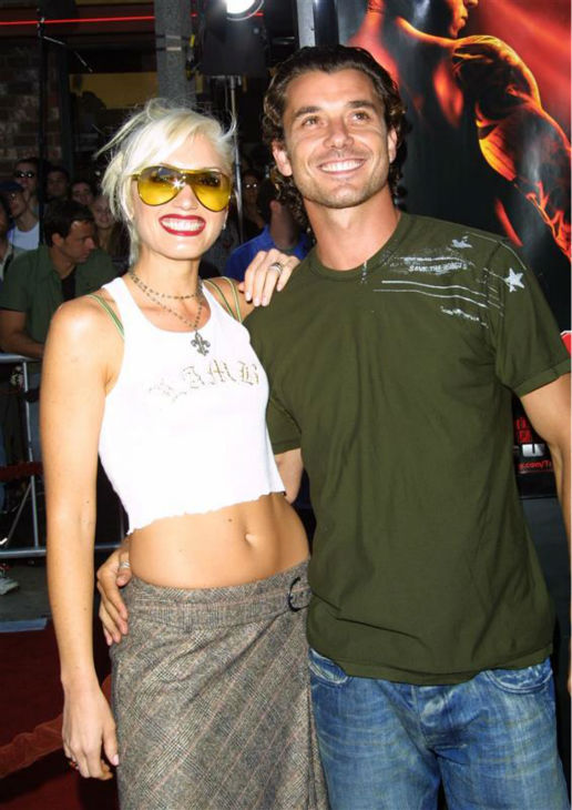 "<div class=""meta ""><span class=""caption-text "">Gwen Stefani and Gavin Rossdale appear at the premiere of 'xXx' in Westwood, near Los Angeles, on Aug. 5, 2002. The two wed in 2002 and are parents to two sons. Stefani is pregnant with their third. (Updated February 2014) (Michael Williams / Startraksphoto.com)</span></div>"