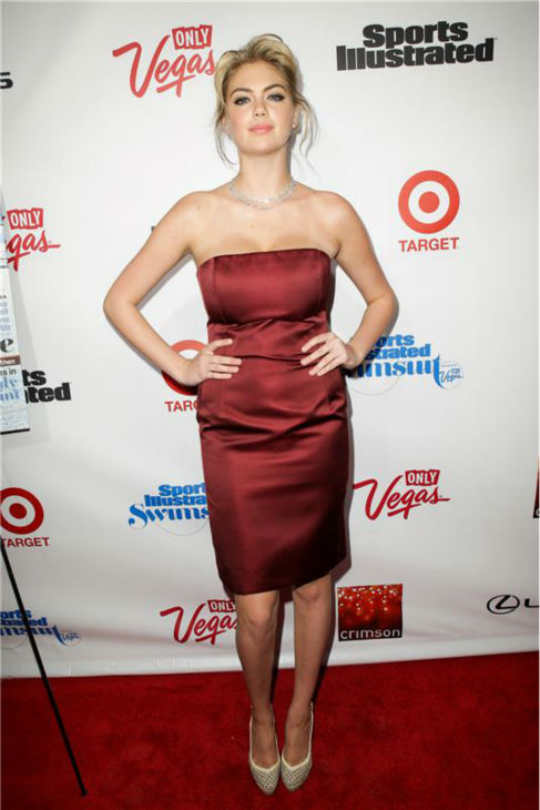 Kate Upton walks the red carpet at a Sports Illustrated party celebrating the 2013 Sports Illustrated Swimsuit issue in New York on Feb. 12, 2013. <span class=meta>(Andrew Toth &#47; Startraksphoto.com)</span>