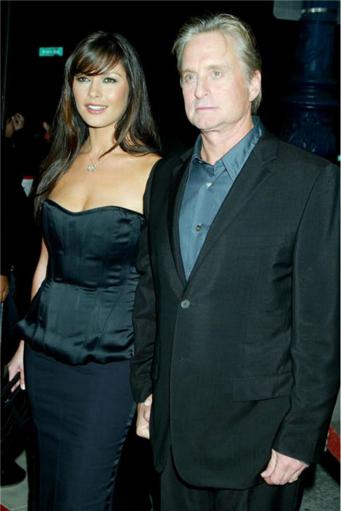 "<div class=""meta image-caption""><div class=""origin-logo origin-image ""><span></span></div><span class=""caption-text"">Catherine Zeta-Jones and Michael Douglas attend the premiere of 'Intolerable Cruelty' at the Academy of Motion Picture Arts and Sciences' Samuel Goldwyn Theater in Beverly Hills, California on Sept. 30, 2003. (Startraks Photo / Startraksphoto.com)</span></div>"
