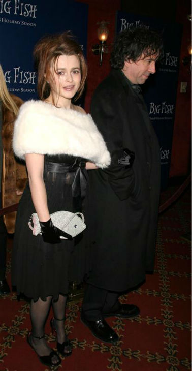 Helena Bonham Carter and partner Tim Burton arrive at the premiere of his movie &#39;Big Fish&#39; in New York Dec. 4, 2003. <span class=meta>(Dave Allocca &#47; Startraksphoto.com)</span>