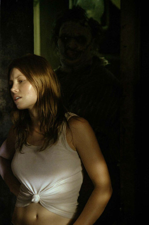 Jessica Biel appears in a still from the 2003 film, 'The Texas Chainsaw Massacre.'