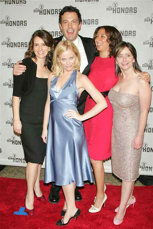 Tina Fey and Amy Poehler appear with Ben Affleck, Maya Rudolph and Rachel Dratch at the 2004 Directors Guild of Amera &#40;DGA&#41; Honors ceremony in New York on Sept. 29, 2004. <span class=meta>(Albert Ferreira &#47; Startraksphoto.com)</span>