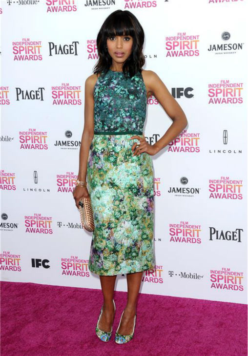 Kerry Washington attends the 2013 Independent Spirit Awards in Santa Monica, California on Feb. 23, 2013. <span class=meta>(Kyle Rover &#47; Startraksphotos.com)</span>