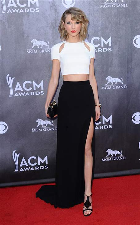 Taylor Swift appears at the 49th annual Academy of Country Music (ACM) Awards in Las Vegas on April 6, 2014.
