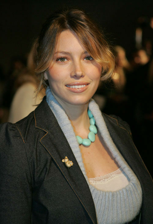 Actress Jessica Biel arrives at a party for unveiling of the redesigned Volkswagen Jetta on Wednesday, Jan. 5, 2005, in West Hollywood, Calif.