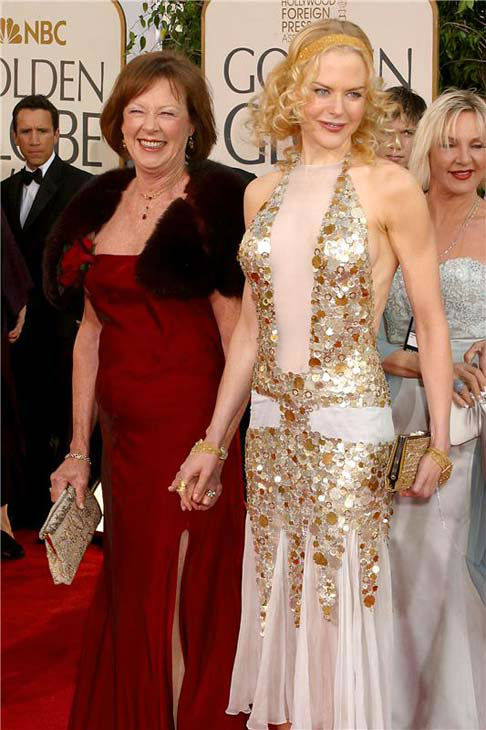 Nicole Kidman arrives at the Beverly Hilton for the 61st annual Golden Globe Awards on Jan. 25, 2004.