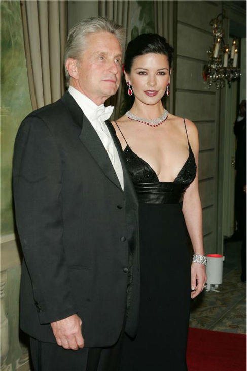 Michael Douglas and Catherine Zeta-Jones attend the eighth annual Red Ball honoring Richard Gere and Carey Lowell, held at the Pierre Hotel in New York in Feb. 7, 2005. <span class=meta>(Bill Davila &#47; Startraksphoto.com)</span>