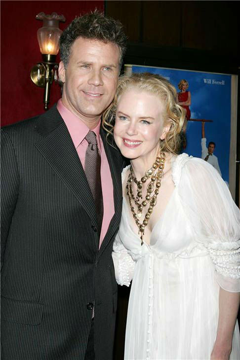Nicole Kidman and Will Ferrell appear at the premiere of 'Bewitched' on June 13, 2005.