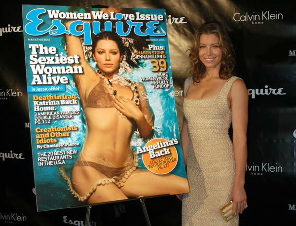 Jessica Biel arrives for her unveiling as Esquire magazine's 2005 'Sexiest Woman Alive' on Thursday, Oct. 6, 2005, in New York City.