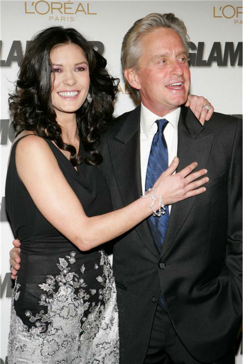 "<div class=""meta ""><span class=""caption-text "">Catherine Zeta-Jones and Michael Douglas attend the 2005 Woman of the Year event at Avery Fisher Hall in Lincoln Center in New York on Nov. 2, 2005. (Marion Curtis / Startraksphoto.com)</span></div>"