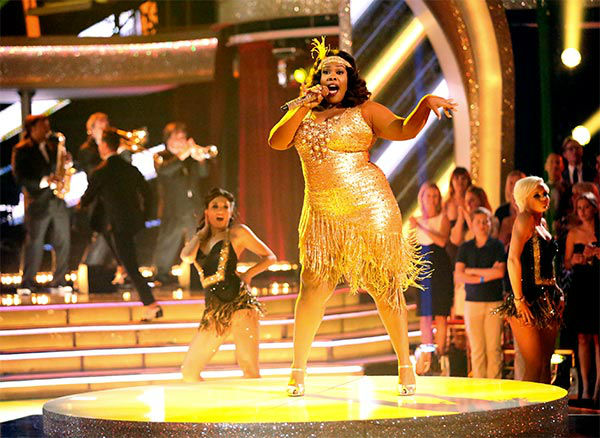 "<div class=""meta ""><span class=""caption-text "">Season 17 champion and 'Glee' actress Amber Riley performs 'Do Your Thing' during the season 18 finale of 'Dancing With the Stars' on May 20, 2014.  (ABC Photo)</span></div>"