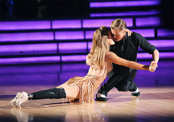 Amy Purdy and Derek Hough perform an Argentine Tango&#47;Cha Cha Cha &#39;Fusion Dance&#39; on week 10 of &#39;Dancing With The Stars&#39; on May 20, 2014. They received 30 out of 30 points from the judges. On Monday, the pair received 30 out of 30 points for their &#39;Judges&#39; Pick&#39; Quickstep and 29 out of 30 points for their Freestyle for a total of 89 out of 90 points. <span class=meta>(ABC Photo)</span>