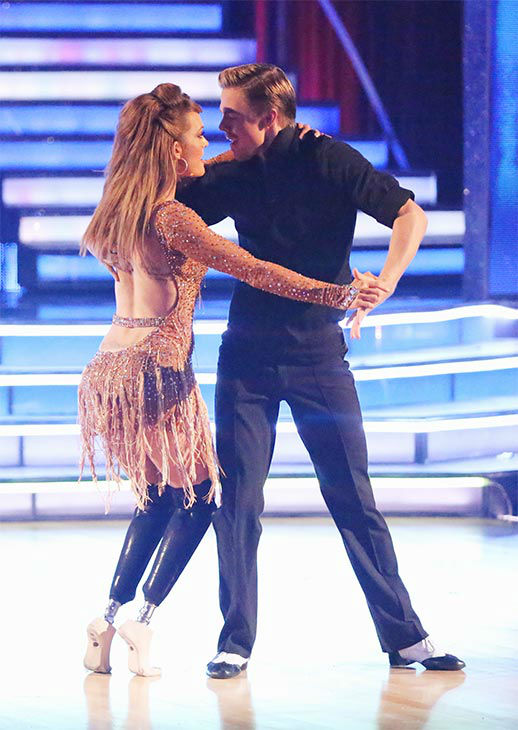 "<div class=""meta ""><span class=""caption-text "">Amy Purdy and Derek Hough perform an Argentine Tango/Cha Cha Cha 'Fusion Dance' on week 10 of 'Dancing With The Stars' on May 20, 2014. They received 30 out of 30 points from the judges. On Monday, the pair received 30 out of 30 points for their 'Judges' Pick' Quickstep and 29 out of 30 points for their Freestyle for a total of 89 out of 90 points. (ABC Photo)</span></div>"
