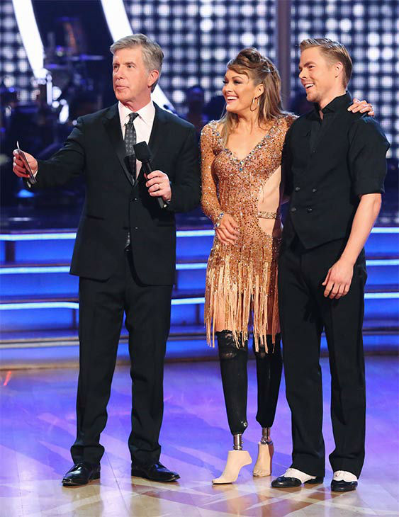 Amy Purdy and Derek Hough performed an Argentine Tango&#47;Cha Cha Cha &#39;Fusion Dance&#39; on week 10 of &#39;Dancing With The Stars&#39; on May 20, 2014. They received 30 out of 30 points from the judges. On Monday, the pair received 30 out of 30 points for their &#39;Judges&#39; Pick&#39; Quickstep and 29 out of 30 points for their Freestyle for a total of 89 out of 90 points. <span class=meta>(ABC Photo)</span>