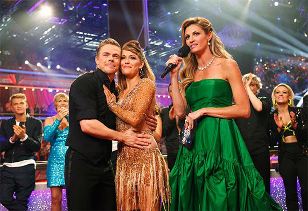 "<div class=""meta ""><span class=""caption-text "">Amy Purdy and Derek Hough talk to Erin Andrews after their Argentine Tango/Cha Cha Cha 'Fusion Dance' during the season 18 finale of 'Dancing With the Stars' on May 20, 2014. (ABC Photo)</span></div>"