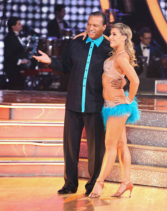 "<div class=""meta ""><span class=""caption-text "">Season 18 contestant Billy Dee Williams and his pro partner Emma Slater appear during the season 18 finale of 'Dancing With The Stars' on May 20, 2014. (ABC Photo)</span></div>"