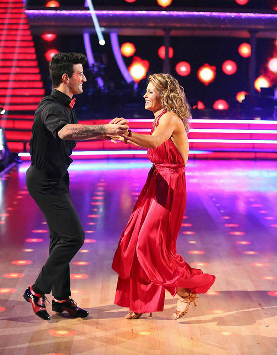 Candace Cameron Bure and Mark Ballas perform a Quickstep&#47;Samba &#39;Fusion Dance&#39; on week 10 of &#39;Dancing With The Stars&#39; on May 20, 2014. They received 27 out of 30 points from the judges. On Monday, the pair received 27 out of 30 points for their &#39;Judges&#39; Pick&#39; Quickstep and 24 out of 30 points for their Freestyle for a total of 78 out of 90 points. <span class=meta>(ABC Photo)</span>