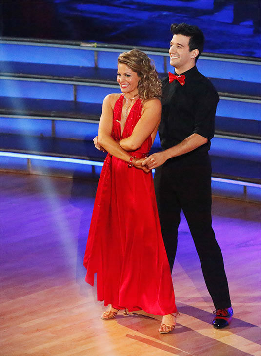 Candace Cameron Bure and Mark Ballas performed a Quickstep&#47;Samba &#39;Fusion Dance&#39; on week 10 of &#39;Dancing With The Stars&#39; on May 20, 2014. They received 27 out of 30 points from the judges. On Monday, the pair received 27 out of 30 points for their &#39;Judges&#39; Pick&#39; Quickstep and 24 out of 30 points for their Freestyle for a total of 78 out of 90 points. <span class=meta>(ABC Photo)</span>
