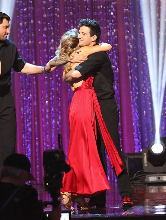 Candace Cameron Bure and Mark Ballas react to coming in third place on the season 18 finale of &#39;Dancing With The Stars&#39; on May 20, 2014. On Tuesday, they received 27 out of 30 points from the judges for their Quickstep&#47;Samba &#39;Fusion Dance.&#39; On Monday, the pair received 27 out of 30 points for their &#39;Judges&#39; Pick&#39; Quickstep and 24 out of 30 points for their Freestyle for a total of 78 out of 90 points. <span class=meta>(ABC Photo)</span>