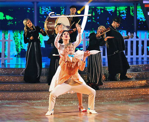 "<div class=""meta ""><span class=""caption-text "">Charlie White and Sharna Burgess performed an encore of their week 5 Jazz routine to the 'Mary Poppins' song 'Supercalifragilisticexpialidocious' during the season 18 finale of 'Dancing With The Stars' on May 20, 2014. (ABC Photo)</span></div>"