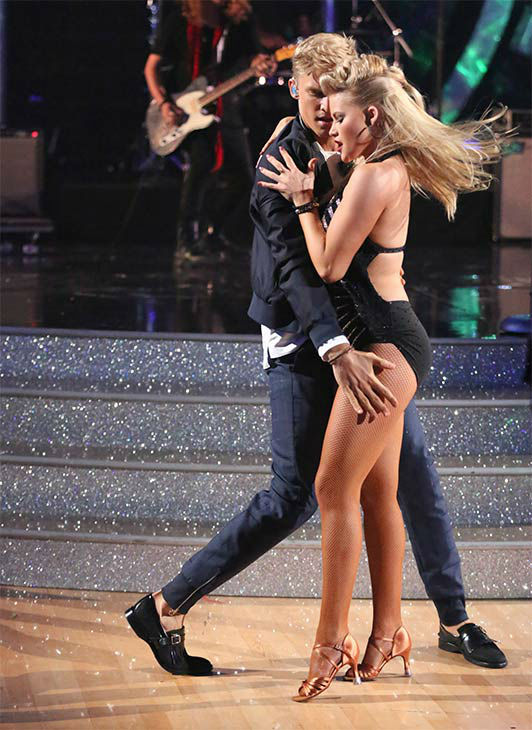 Season 18 contestant Cody Simpson dances with former pro partner Witney Carson during his performance of his single &#39;Surfboard&#39; on the season 18 finale of &#39;Dancing With the Stars&#39; on May 20, 2014. <span class=meta>(ABC Photo)</span>