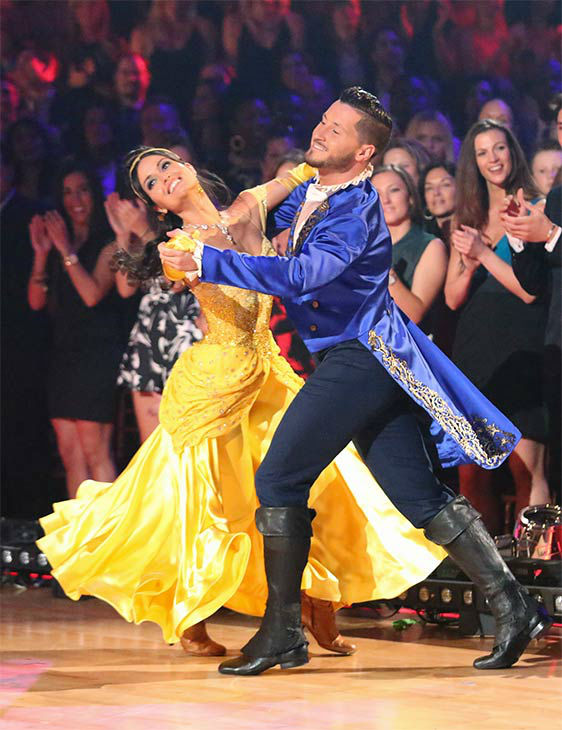 Danica McKellar and Valentin Chmerkovskiy performed an encore of their week 5 Quickstep routine to the &#39;Beauty and the Beast&#39; song &#39;Be Our Guest&#39; during the season 18 finale of &#39;Dancing With The Stars&#39; on May 20, 2014. <span class=meta>(ABC Photo)</span>