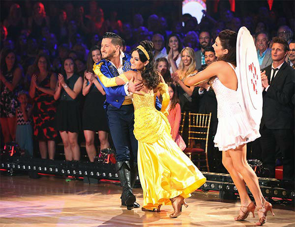 "<div class=""meta ""><span class=""caption-text "">Danica McKellar and Valentin Chmerkovskiy performed an encore of their week 5 Quickstep routine to the 'Beauty and the Beast' song 'Be Our Guest' during the season 18 finale of 'Dancing With The Stars' on May 20, 2014. (ABC Photo)</span></div>"