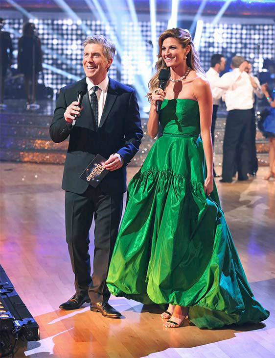 "<div class=""meta ""><span class=""caption-text "">Tom Bergeron and Erin Andrews appear during the season 18 finale of 'Dancing With the Stars' on May 20, 2014. (ABC Photo)</span></div>"