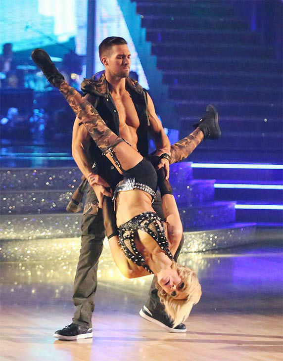 James Maslow and Peta Murgatroyd performed an encore of their Freestyle routine during the season 18 finale of &#39;Dancing With The Stars&#39; on May 20, 2014. <span class=meta>(ABC Photo)</span>
