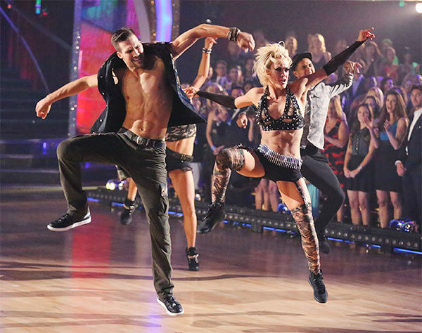 "<div class=""meta ""><span class=""caption-text "">James Maslow and Peta Murgatroyd performed an encore of their Freestyle routine during the season 18 finale of 'Dancing With The Stars' on May 20, 2014. (ABC Photo)</span></div>"
