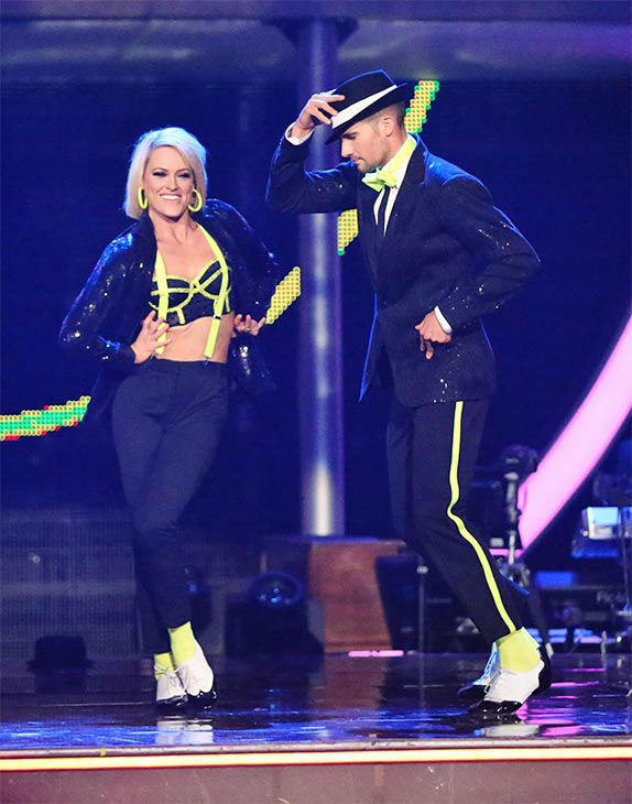 James Maslow and Peta Murgatroyd performed an encore of their week 9 Cha Cha Cha routine to Michael Jackson&#39;s &#39;Love Never Felt So Good&#39; during the season 18 finale of &#39;Dancing With The Stars&#39; on May 20, 2014. <span class=meta>(ABC Photo)</span>
