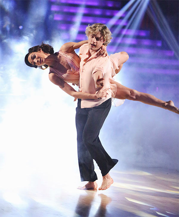 Charlie White and his Olympic gold medalist partner, Meryl Davis, danced together on &#39;Dancing With The Stars&#39; for the first time during the season 18 finale on May 20, 2014. <span class=meta>(ABC Photo)</span>