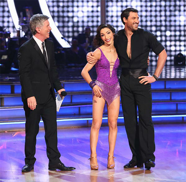 Meryl Davis and Maksim Chmerkovskiy performed a Foxtrot&#47;Cha Cha Cha &#39;Fusion Dance&#39; on week 10 of &#39;Dancing With The Stars&#39; on May 20, 2014. They received 30 out of 30 points from the judges. On Monday, the pair received 30 out of 30 points for their &#39;Judges&#39; Pick&#39; Quickstep and 30 out of 30 points for their Freestyle for a total of 90 out of 90 points. <span class=meta>(ABC Photo)</span>