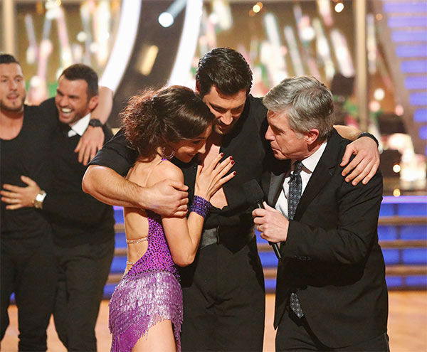 Meryl Davis and Maksim Chmerkovskiy react to winning season 18 of &#39;Dancing With The Stars&#39; on May 20, 2014. On Tuesday, they received 30 out of 30 points from the judges for their Foxtrot&#47;Cha Cha Cha &#39;Fusion Dance.&#39; On Monday, the pair received 30 out of 30 points for their &#39;Judges&#39; Pick&#39; Quickstep and 30 out of 30 points for their Freestyle for a total of 90 out of 90 points. <span class=meta>(ABC Photo)</span>