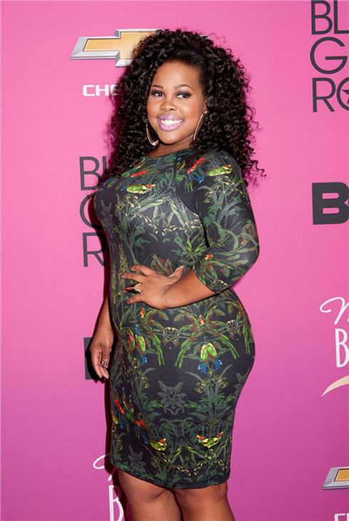 Amber Riley, a 'Glee' star and current competitor on ABC's 'Dancing With The Stars,' appears at BET's 2013 Black Girls Rock event in N