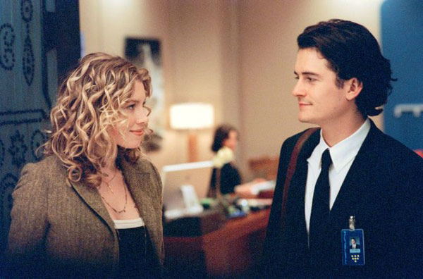 Jessica Biel and Orlando Bloom appear in a still from the 2005 film, 'Elizabethtown.'