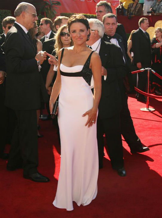 "<div class=""meta ""><span class=""caption-text "">Julia Louis-Dreyfus appears at the 2006 Emmy Awards in Los Angeles on Aug. 27, 2006. (Jen Lowery / Startraksphoto.com)</span></div>"