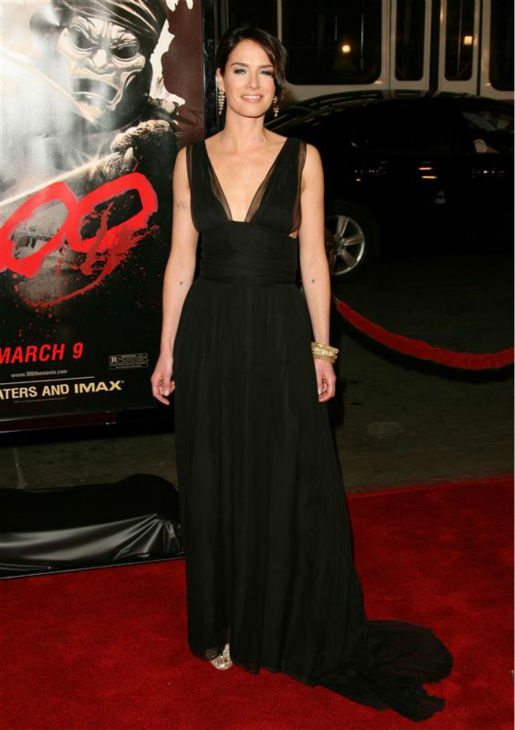 Lena Headey appears at the premiere of the movie &#39;300&#39; in Hollywood, California on March 5, 2007.  <span class=meta>(Jen Lowery &#47; Startraksphoto.com)</span>