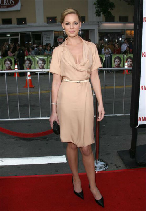 Katherine Heigl appears at premiere of the movie &#39;Knocked Up,&#39; in which she plays a women who becomes pregnant after a one-night stand, in Westwood, near Los Angeles, on May 21, 2007. The movie became a massive hit. <span class=meta>(Jen Lowery &#47; Startraksphoto.com)</span>