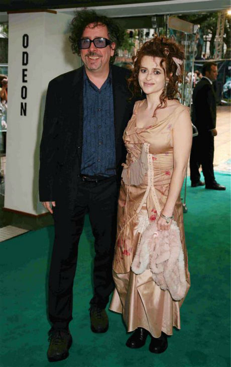 Helena Bonham Carter and partner Tim Burton arrive at the premiere of &#39;Harry Potter and the Order of the Phoenix&#39; in London on July 3, 2007. <span class=meta>(Richard Young &#47; Startraksphoto.com)</span>