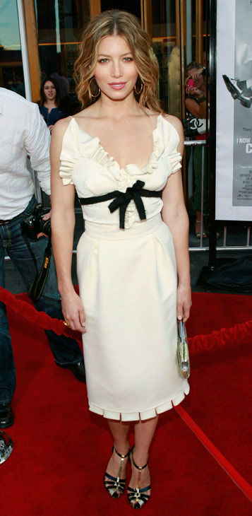 "<div class=""meta ""><span class=""caption-text "">Jessica Biel arrives at the premiere of ""'I Now Pronounce You Chuck and Larry' in Los Angeles on Thursday, July 12, 2007. (AP Photo/Matt Sayles)</span></div>"