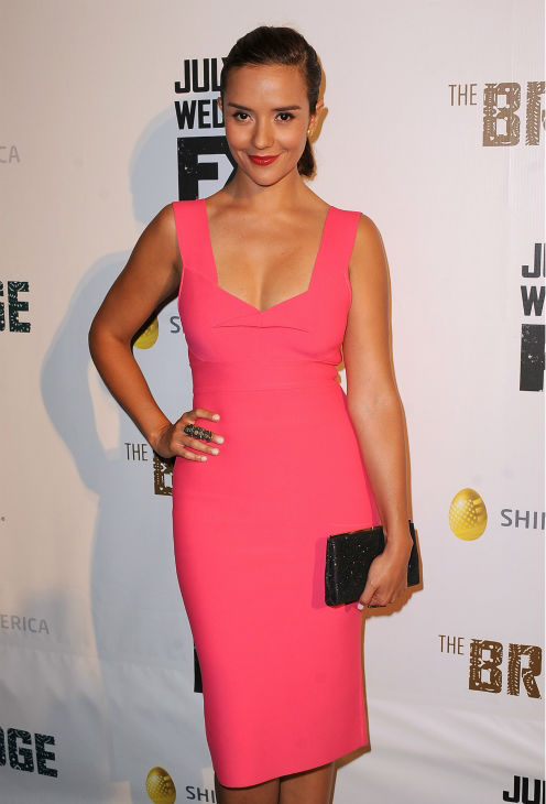 Catalina Sandino Moreno attends the premiere of the new FX series 'The Bridge' in Los Angeles on July 8, 2013.