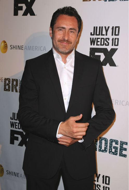 Demian Bichir attends the premiere of the new FX series 'The Bridge' in Los Angeles on July 8, 2013.