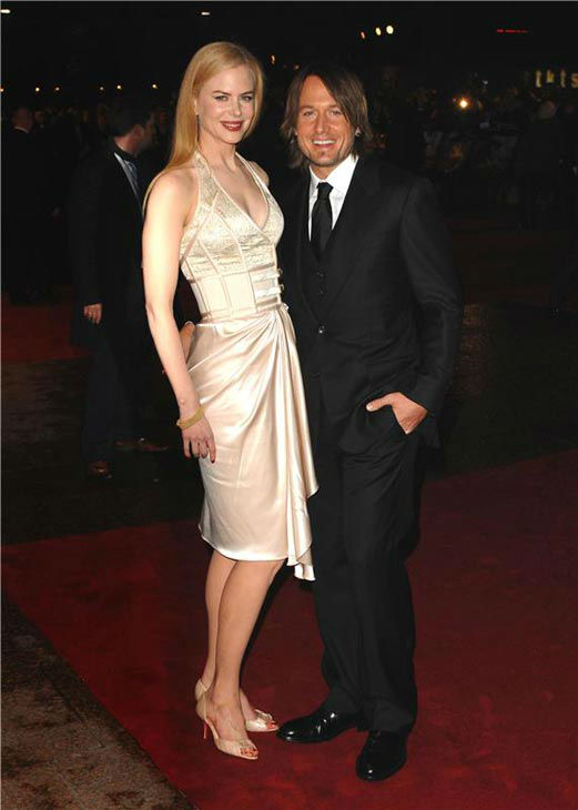 Nicole Kidman and Keith Urban appear at the London Premiere of 'The Golden Compass' on Nov. 27, 2007.