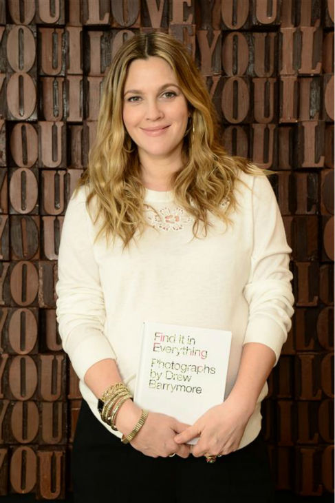 "<div class=""meta ""><span class=""caption-text "">Drew Barrymore, who is pregnant with her second child, appears at a Godiva chocolate shop in Los Angeles on Jan. 29, 2014 to kick off a Valentine's Day partnership to promote her book 'Find It In Everything.'  The book is a collection of heart shaped images. (Michael Simon / Startraksphoto.com)</span></div>"
