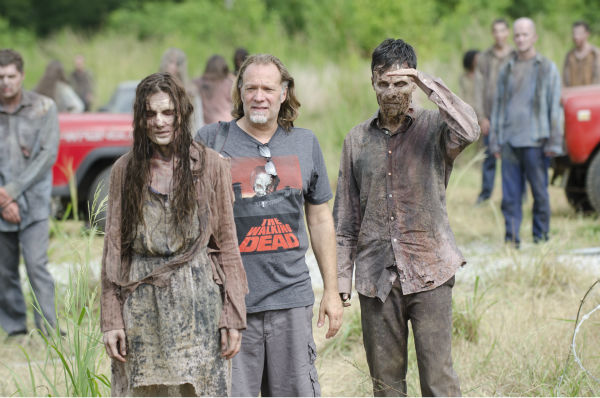 Extras dressed as Walkers appear on the set of AMC&#39;s &#39;The Walking Dead&#39;s season 4 midseason finale, which aired on Dec. 1, 2013. <span class=meta>(Gene Page &#47; AMC)</span>