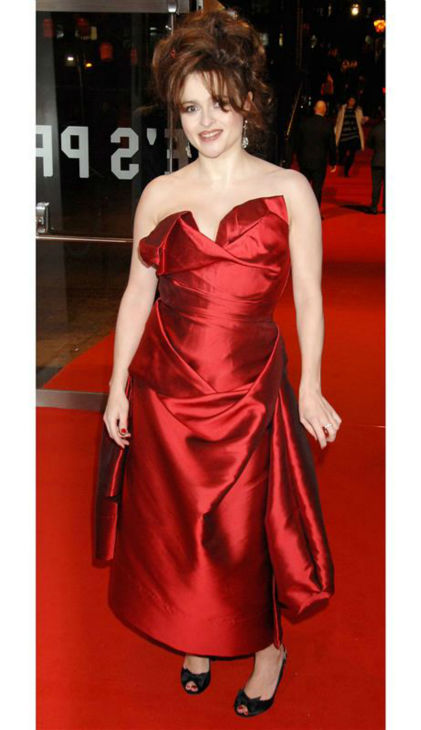 Helena Bonham Carter arrives at the premiere of partner Tim Burton&#39;s movie &#39;Sweeney Todd: The Demon Barber of Fleet Street&#39; in London on Jan. 10, 2007. <span class=meta>(Richard Young &#47; Startraksphoto.com)</span>